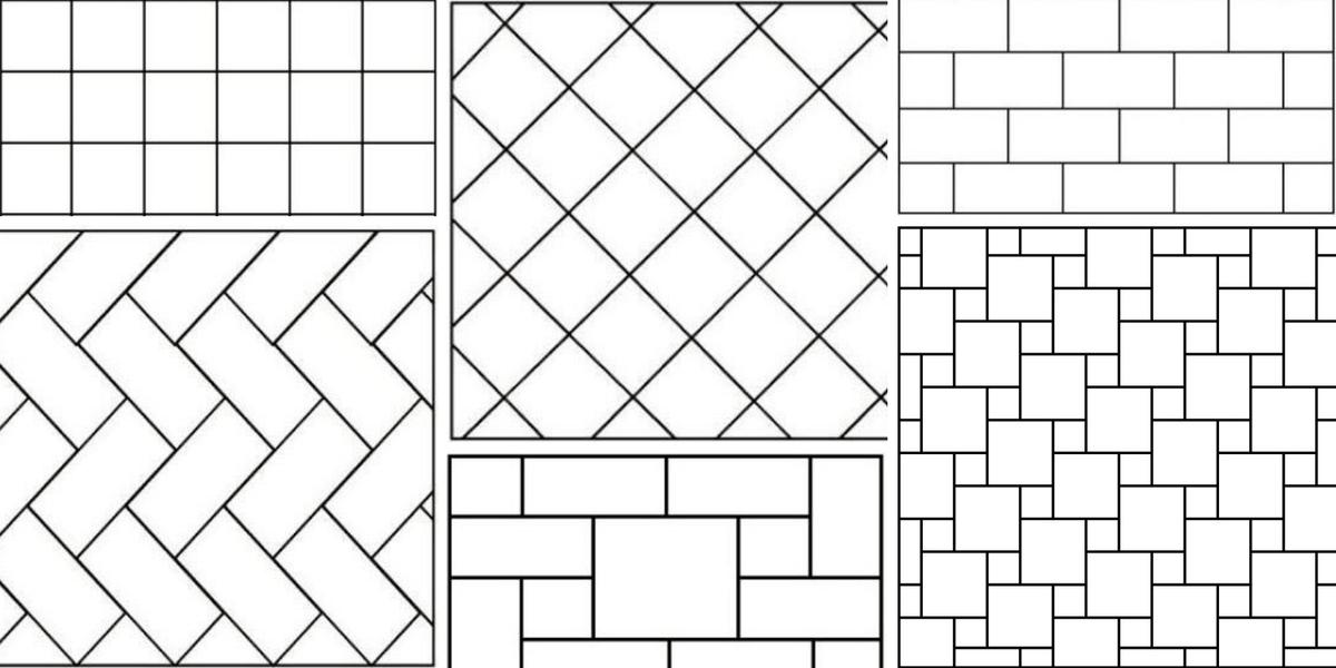 Раскладка плитки схемы укладки