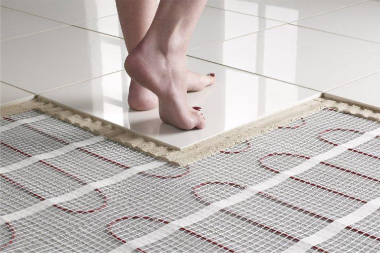 Теплый пол под плитку в ванной